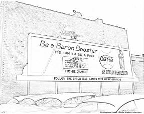 Baron Booster Sign